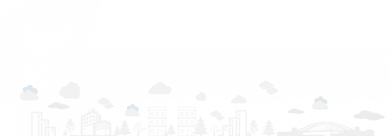 Clouds and buildings illustration