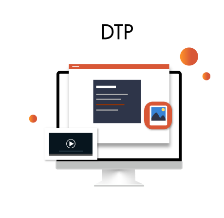 Desktop Publishing Icon With Bubbles