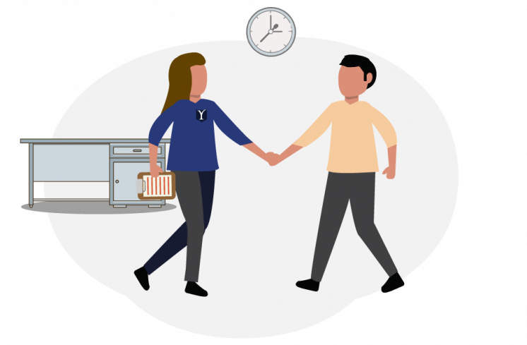 Exclusivity Discount, two people shaking hands in an office setting